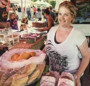 Nicole at the market